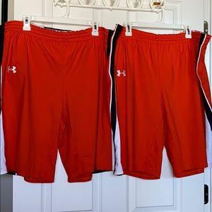 Lot of 2 Under Armour Shorts XL bundle